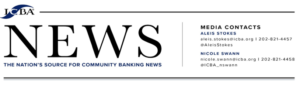 ICBA NEWS - THE NATIONS SOURCE FOR COMMUNITY BANKING NEWS